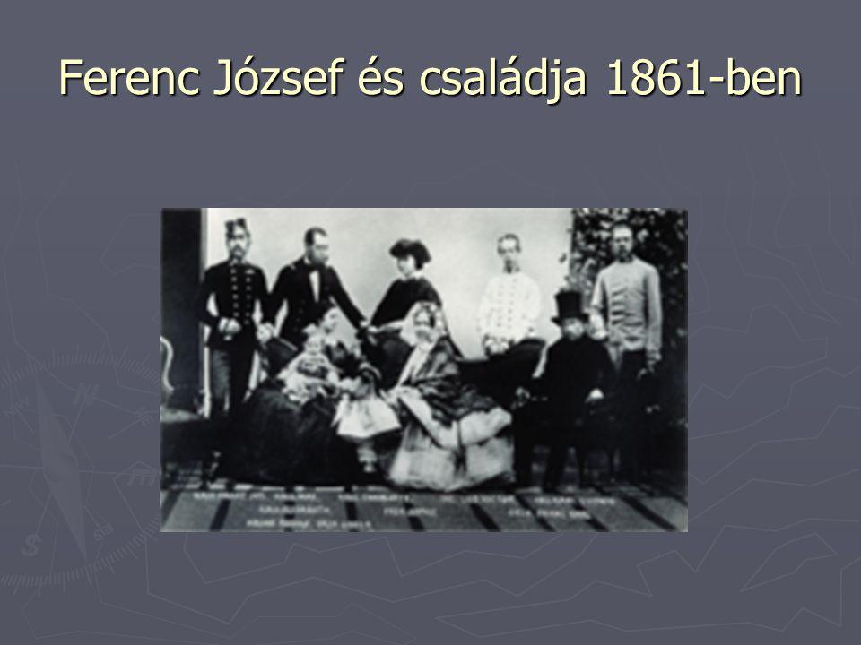 Ferenc József és családja 1861-ben