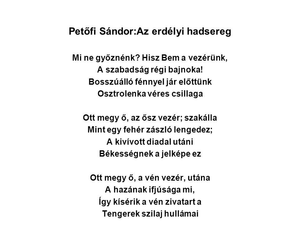 Petőfi Sándor:Az erdélyi hadsereg
