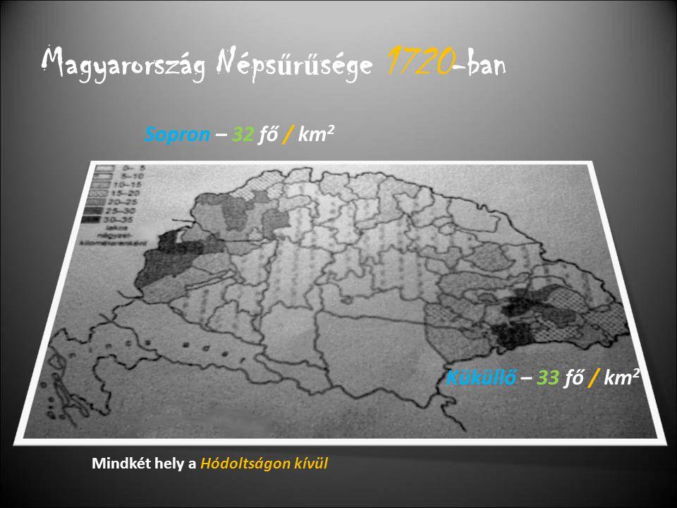 Magyarország Népsűrűsége 1720-ban