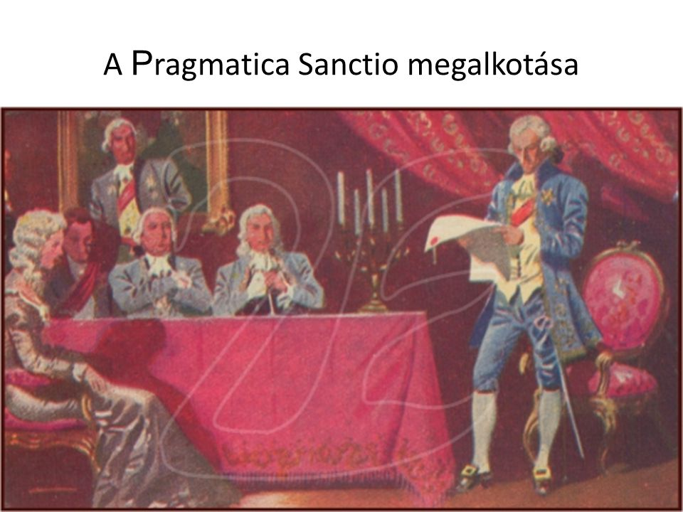 A Pragmatica Sanctio megalkotása