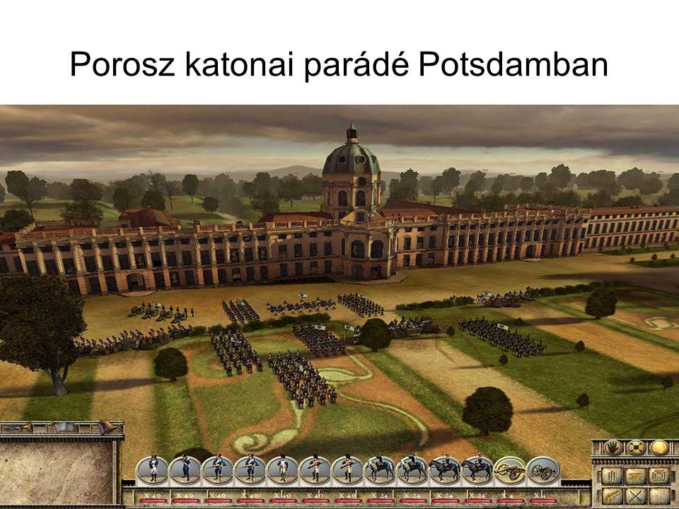 Porosz katonai parádé Potsdamban