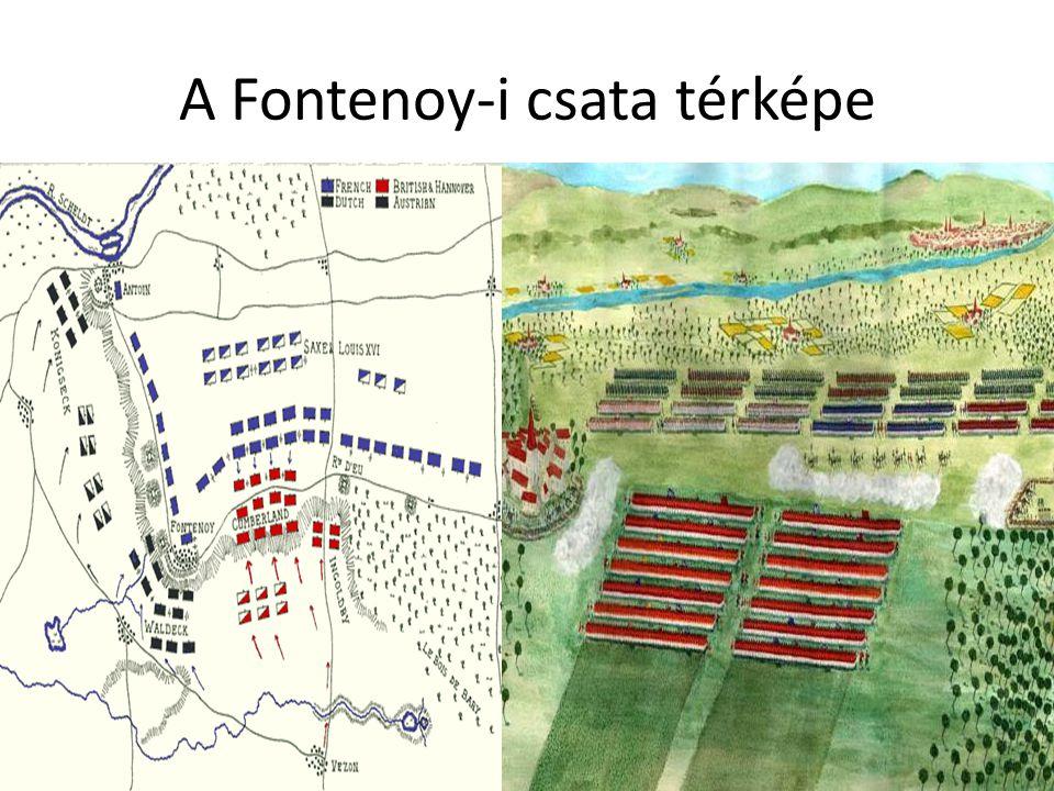 A Fontenoy-i csata térképe