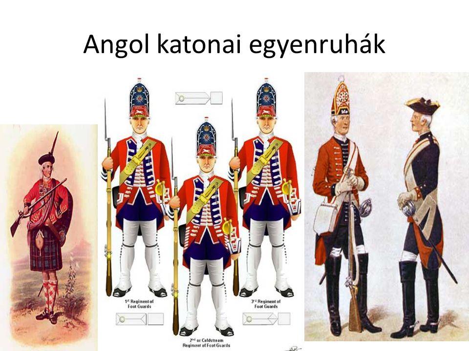 Angol katonai egyenruhák