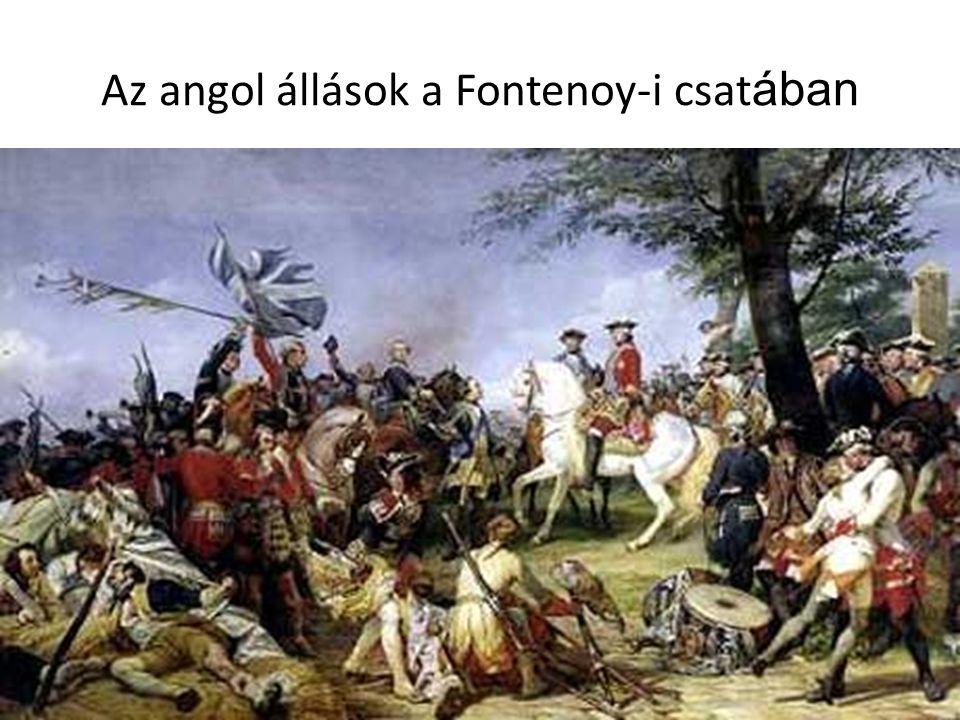Az angol állások a Fontenoy-i csatában
