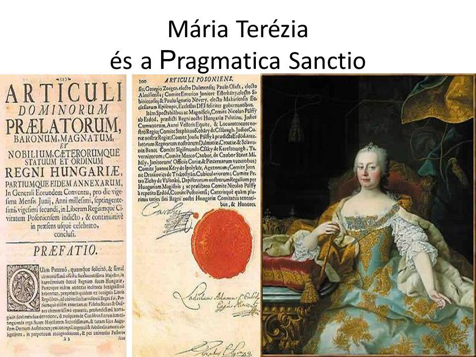 Mária Terézia és a Pragmatica Sanctio