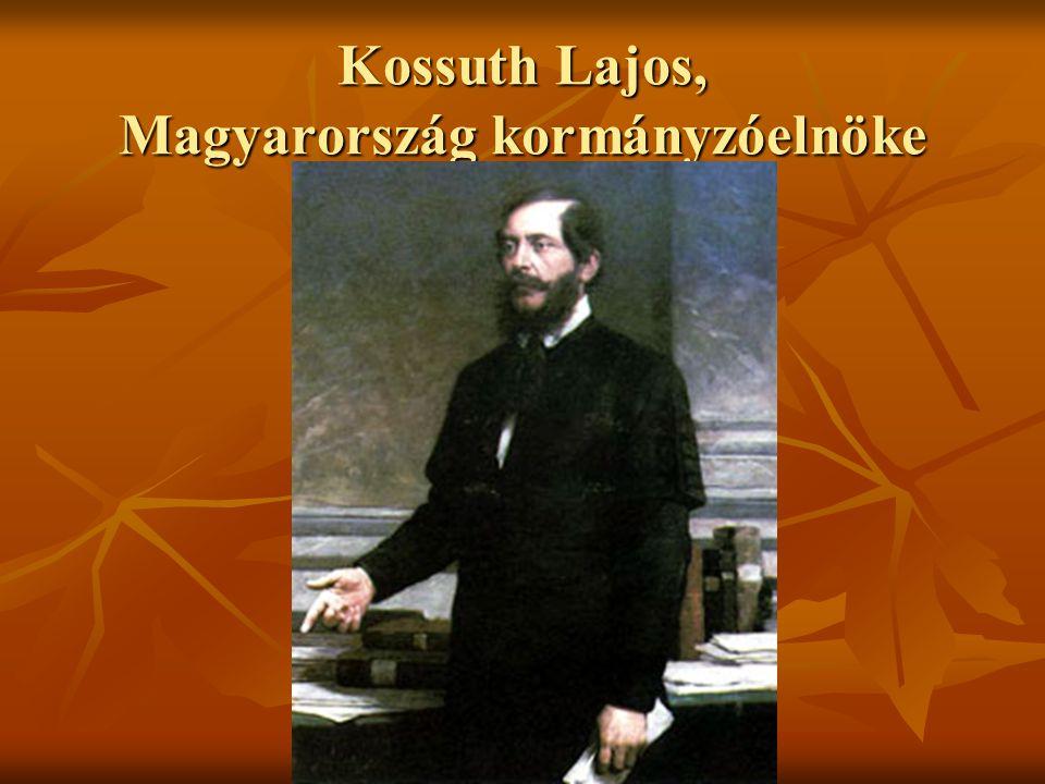 Kossuth Lajos, Magyarország kormányzóelnöke