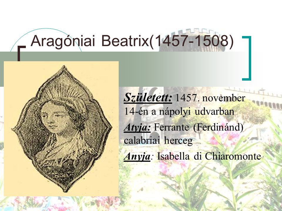 Aragóniai Beatrix(1457-1508)
