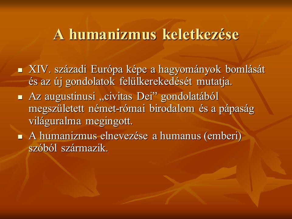 A humanizmus keletkezése