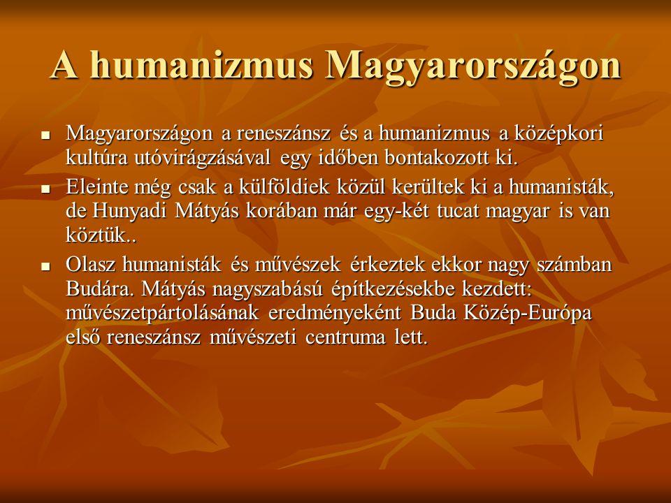 A humanizmus Magyarországon