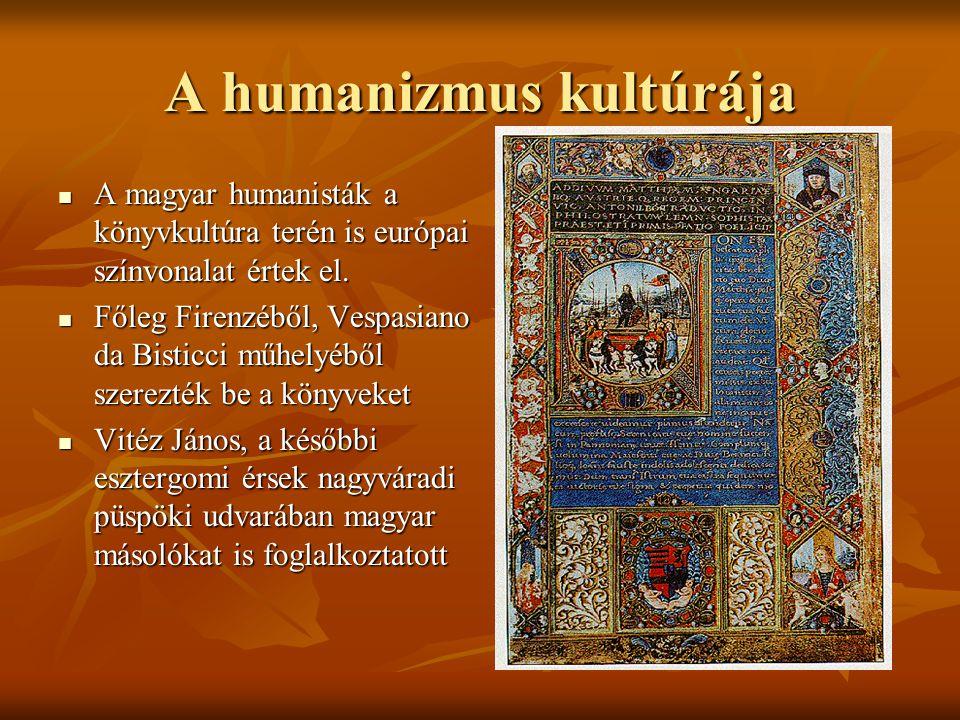 A humanizmus kultúrája
