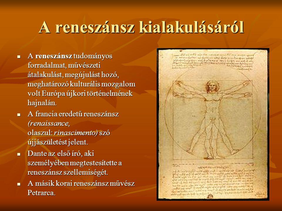 A reneszánsz kialakulásáról