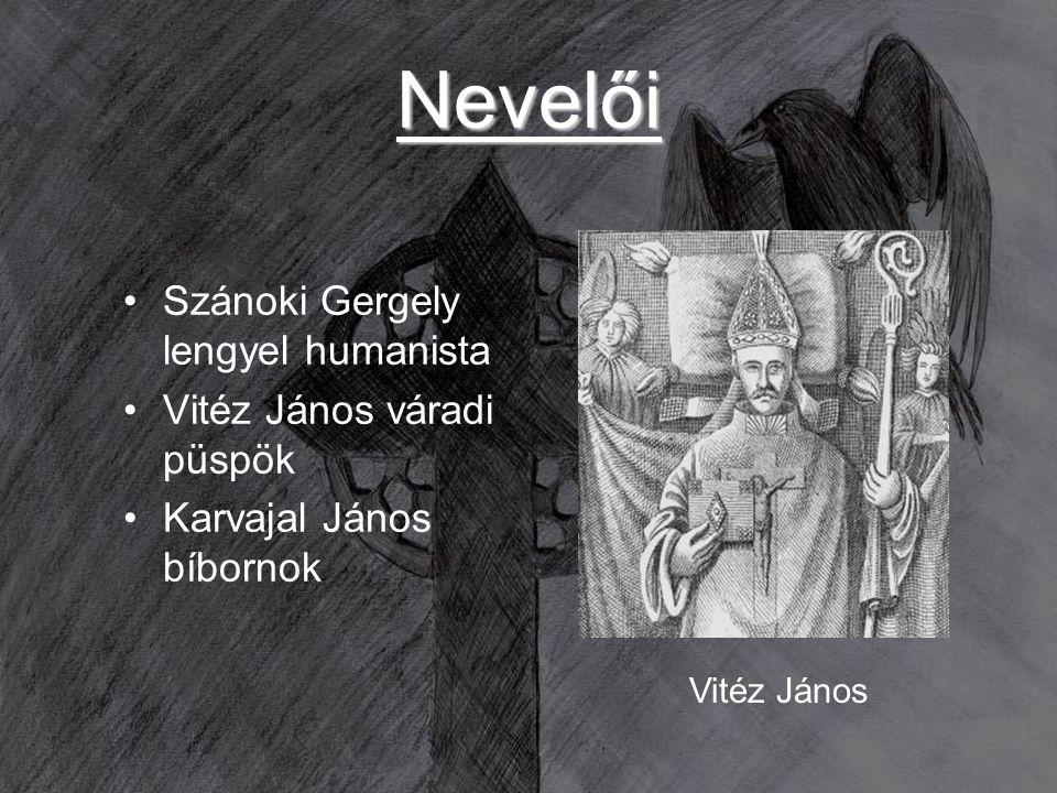 Nevelői Szánoki Gergely lengyel humanista Vitéz János váradi püspök