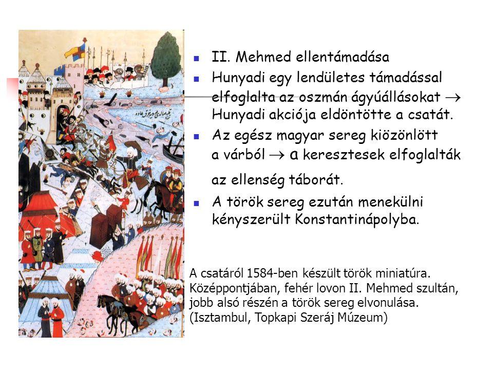 II. Mehmed ellentámadása