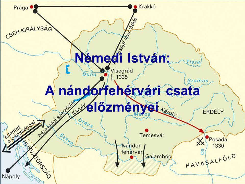 Némedi István: A nándorfehérvári csata előzményei