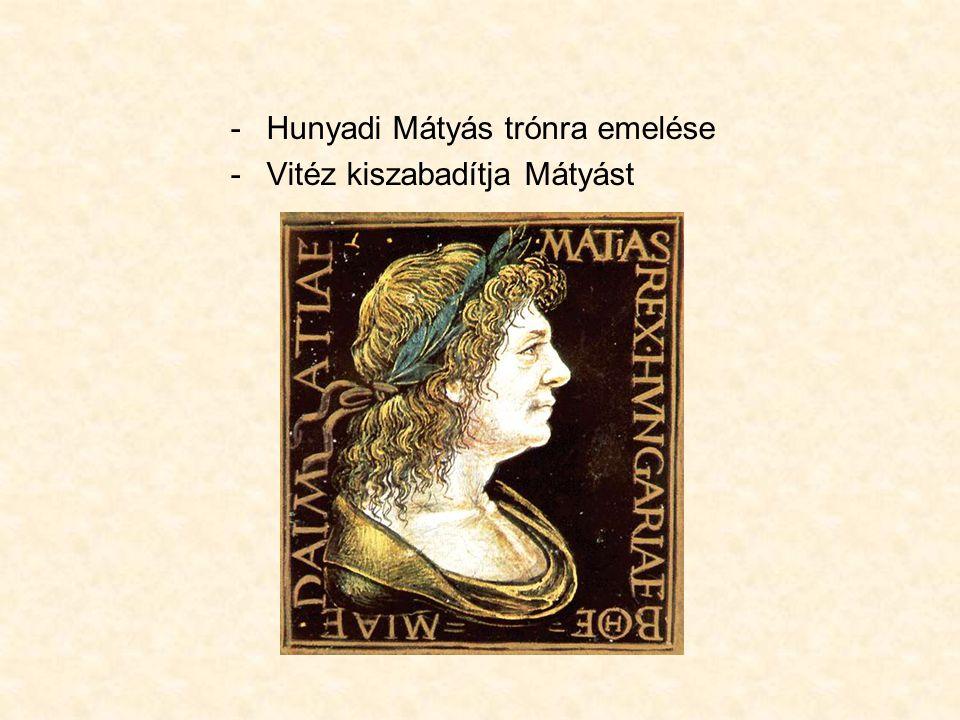 Hunyadi Mátyás trónra emelése
