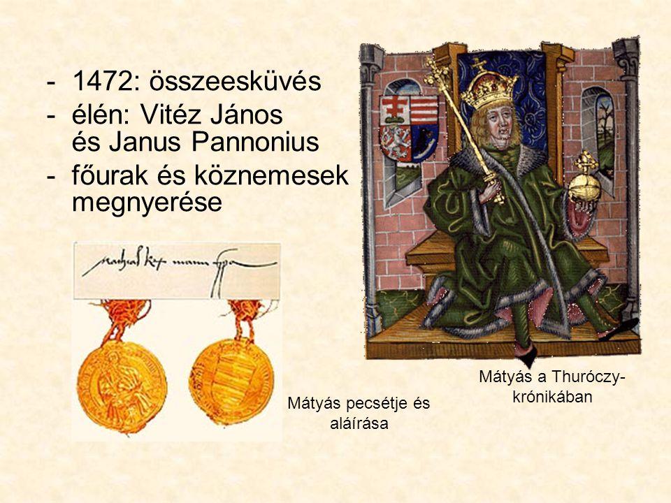 élén: Vitéz János és Janus Pannonius főurak és köznemesek megnyerése
