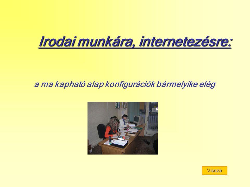 Irodai munkára, internetezésre: