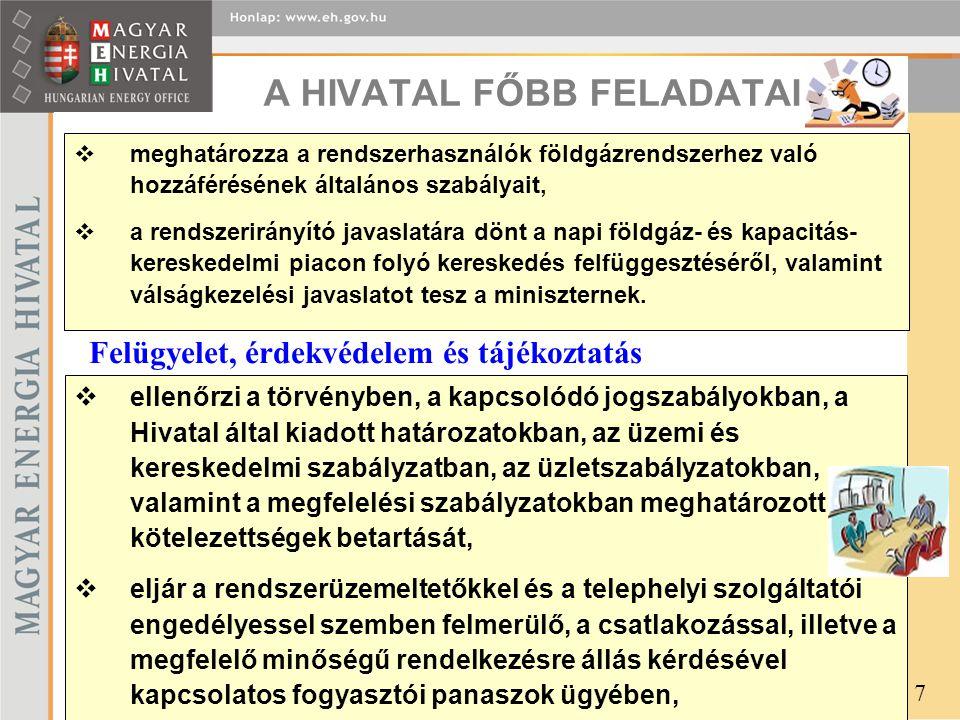 A HIVATAL FŐBB FELADATAI (6)