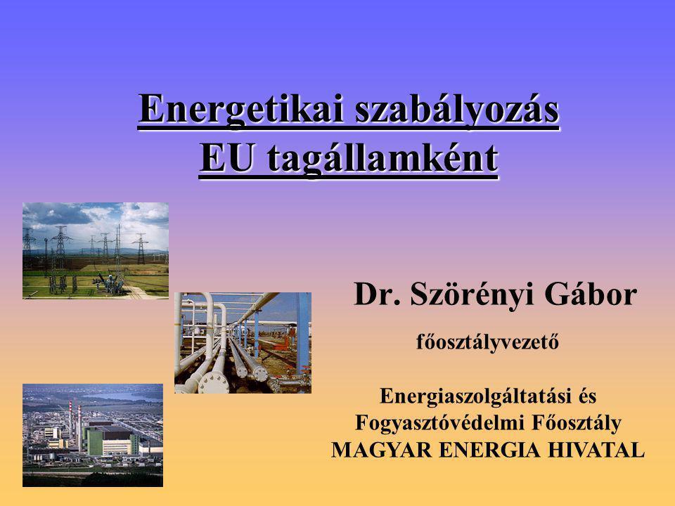 Energetikai szabályozás EU tagállamként