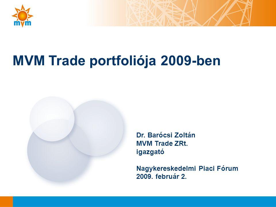 MVM Trade portfoliója 2009-ben