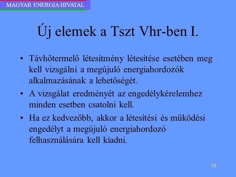 Új elemek a Tszt Vhr-ben I.