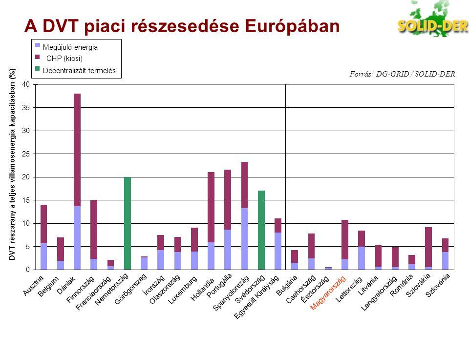 A DVT piaci részesedése Európában