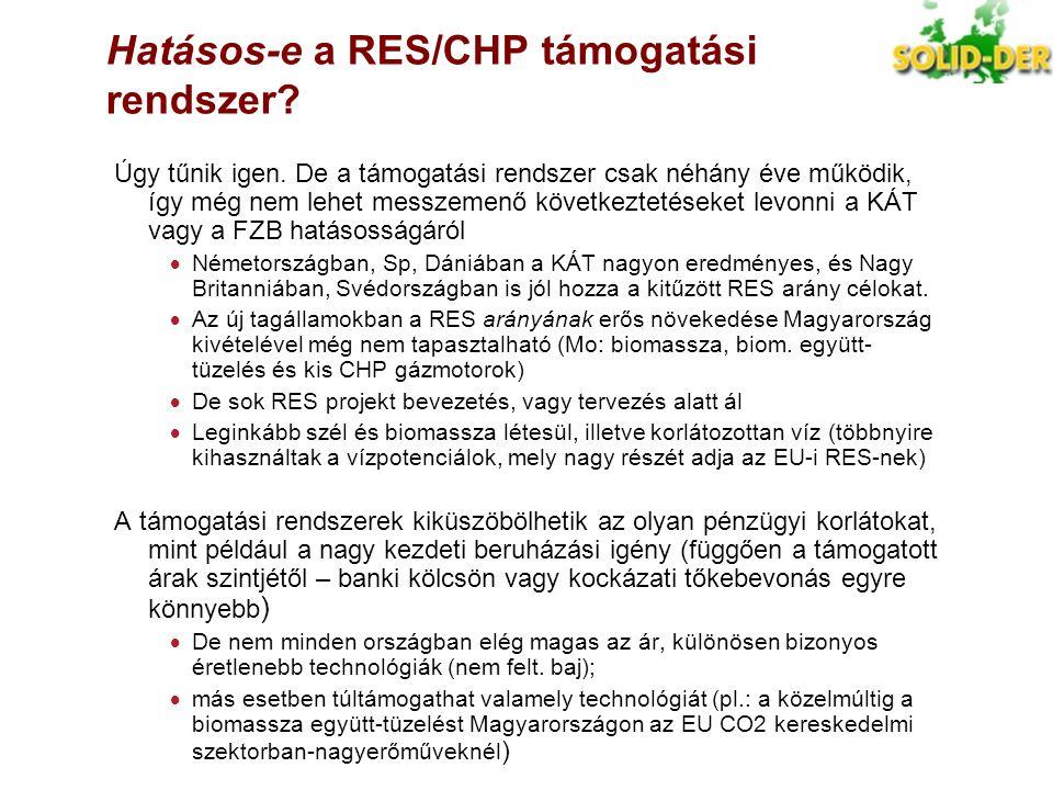 Hatásos-e a RES/CHP támogatási rendszer
