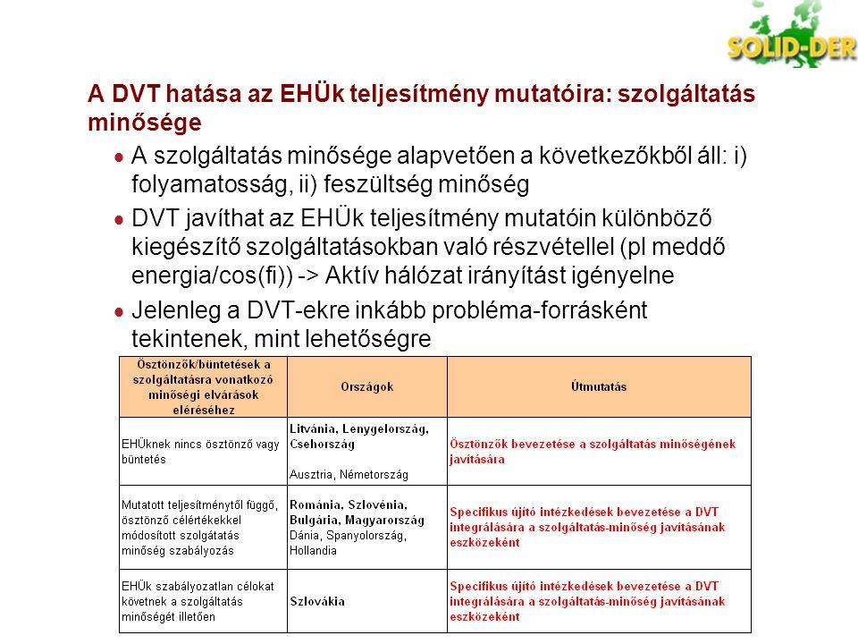 A DVT hatása az EHÜk teljesítmény mutatóira: szolgáltatás minősége