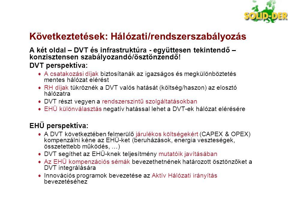 Következtetések: Hálózati/rendszerszabályozás