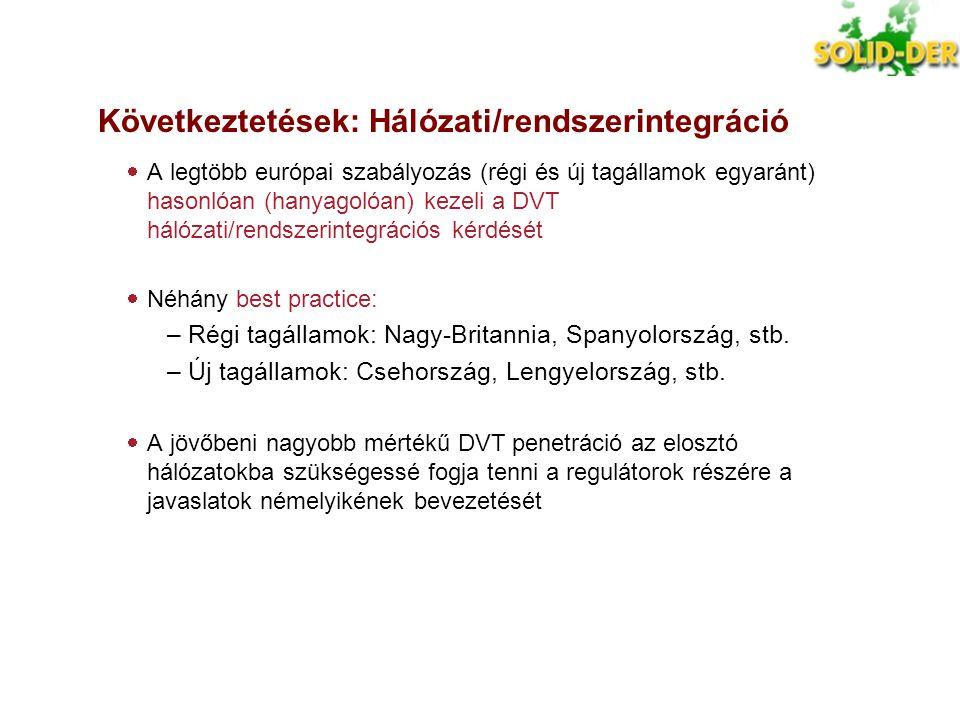 Következtetések: Hálózati/rendszerintegráció