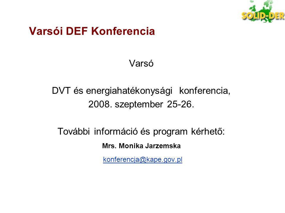 Varsói DEF Konferencia