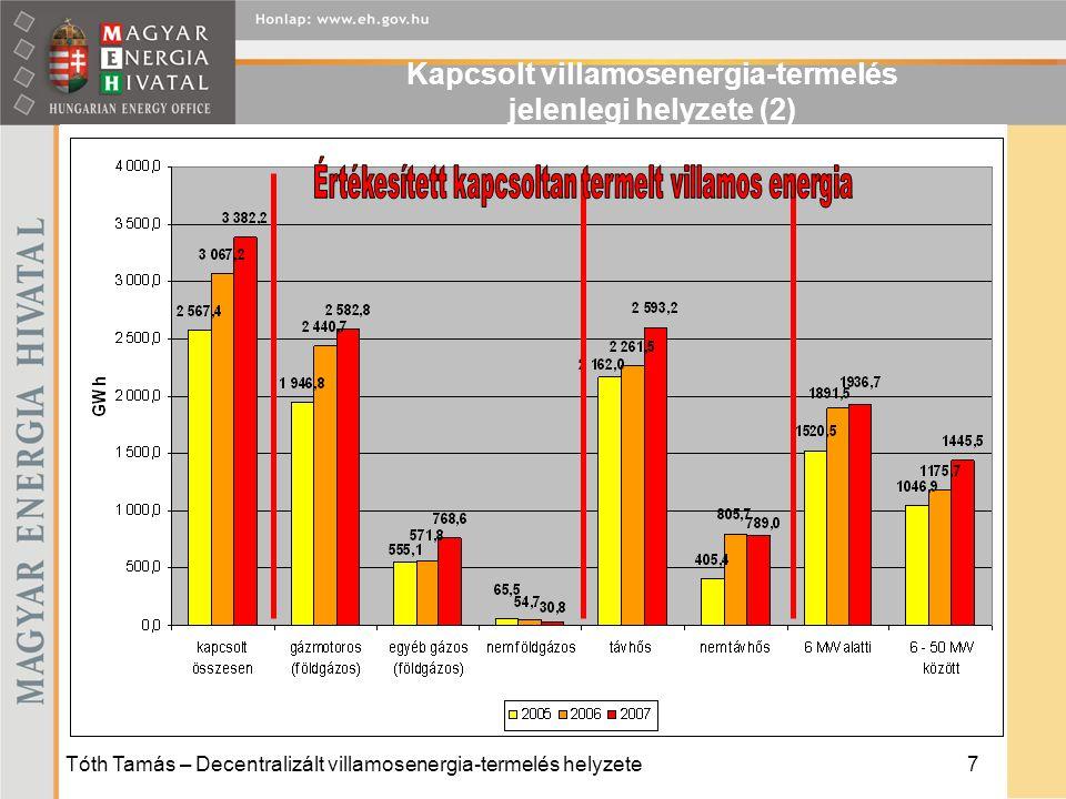 Kapcsolt villamosenergia-termelés jelenlegi helyzete (2)