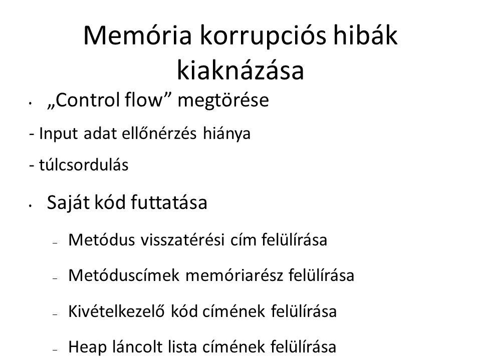 Memória korrupciós hibák kiaknázása