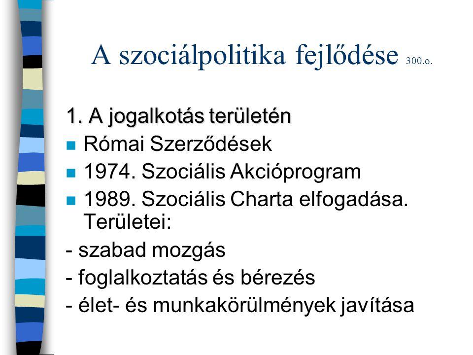 A szociálpolitika fejlődése 300.o.