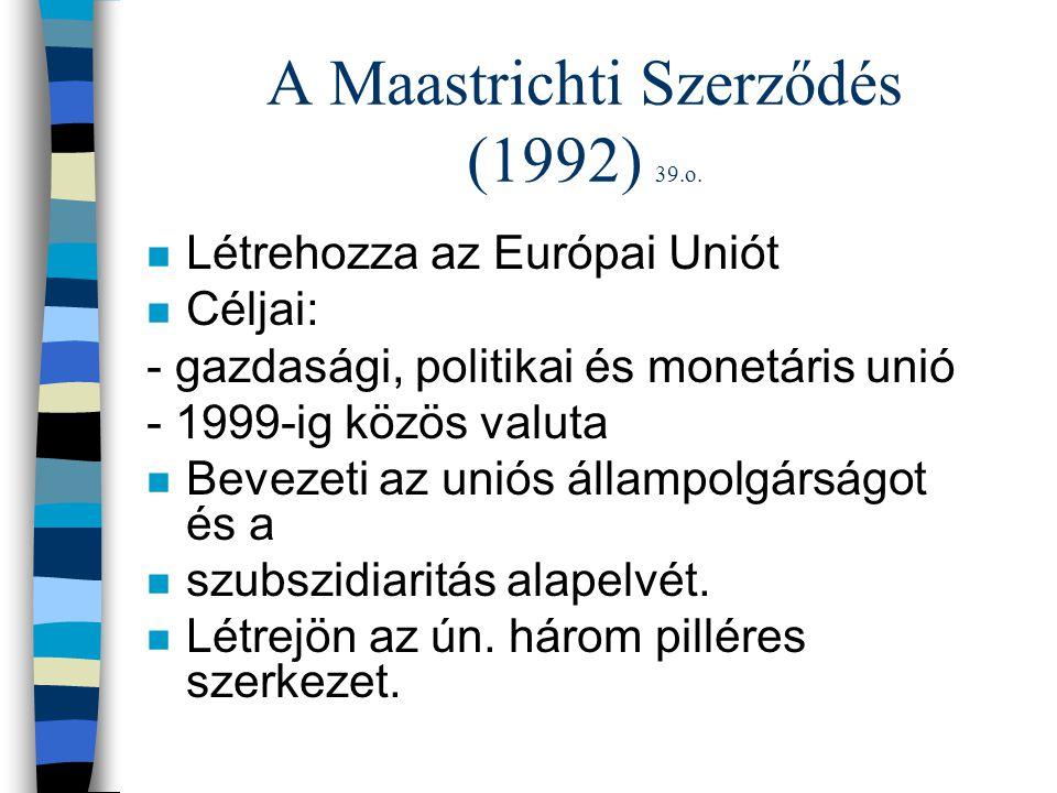 A Maastrichti Szerződés (1992) 39.o.