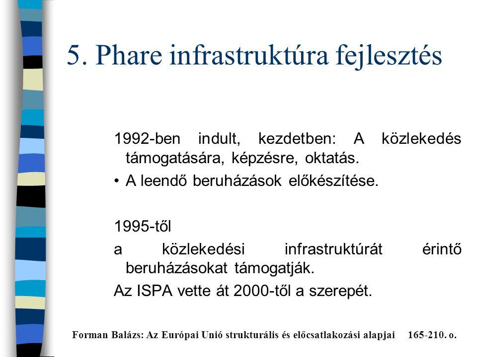 5. Phare infrastruktúra fejlesztés