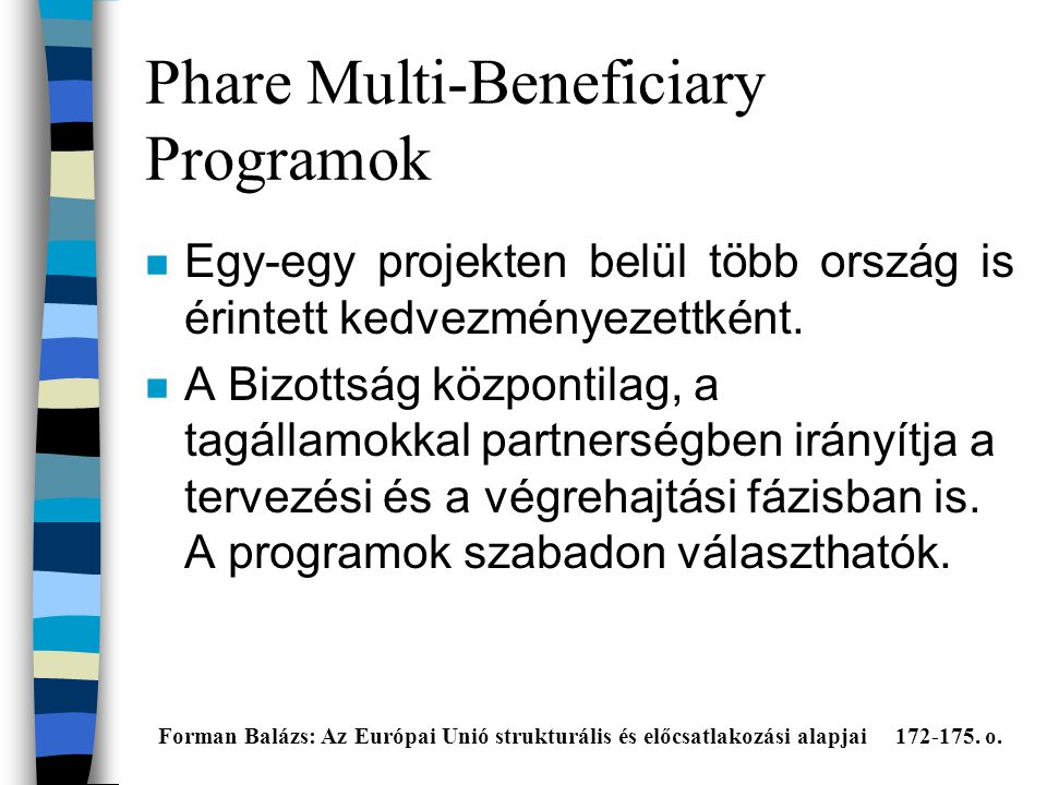 Phare Multi-Beneficiary Programok