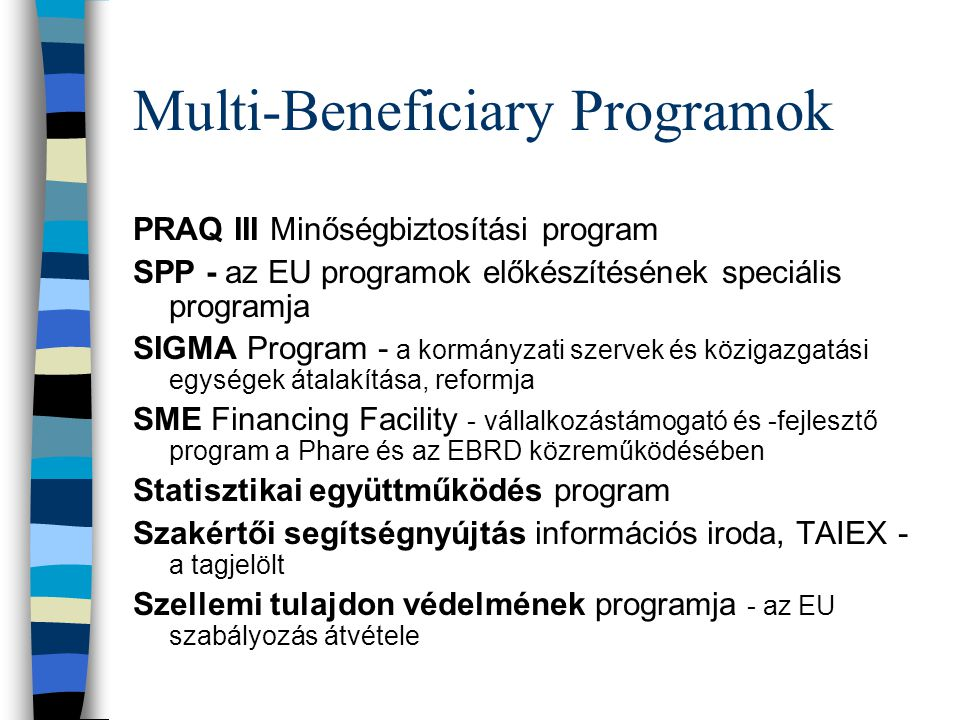 Multi-Beneficiary Programok