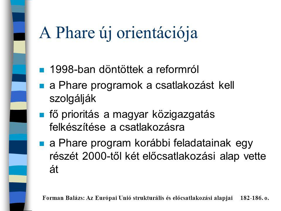 A Phare új orientációja