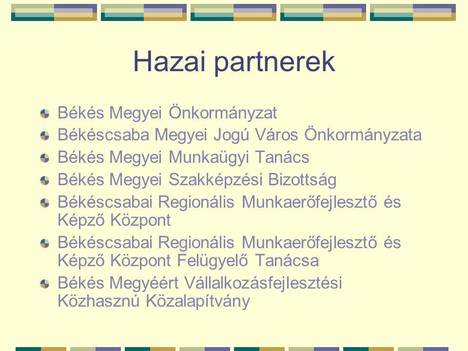 Hazai partnerek Békés Megyei Önkormányzat