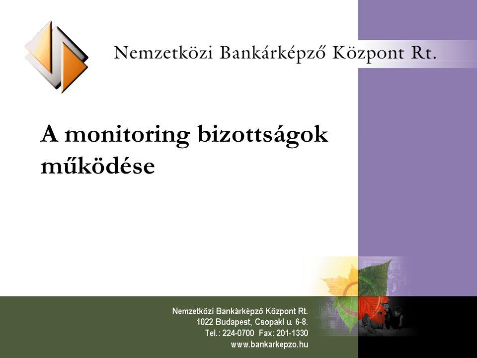 A monitoring bizottságok működése