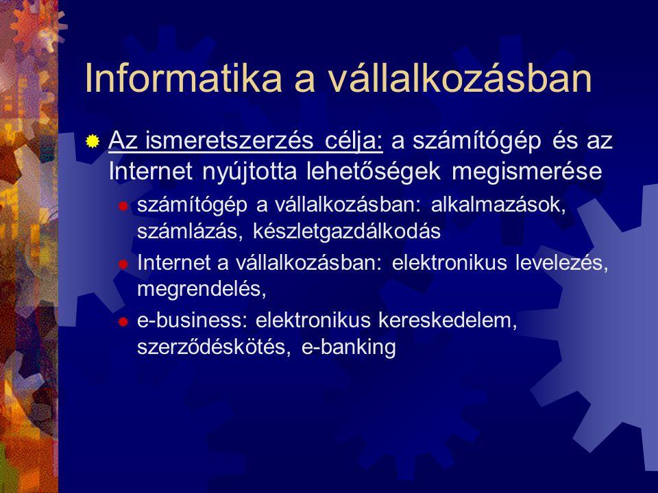Informatika a vállalkozásban