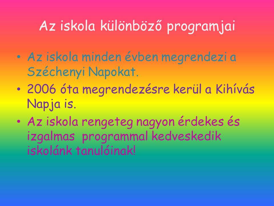 Az iskola különböző programjai