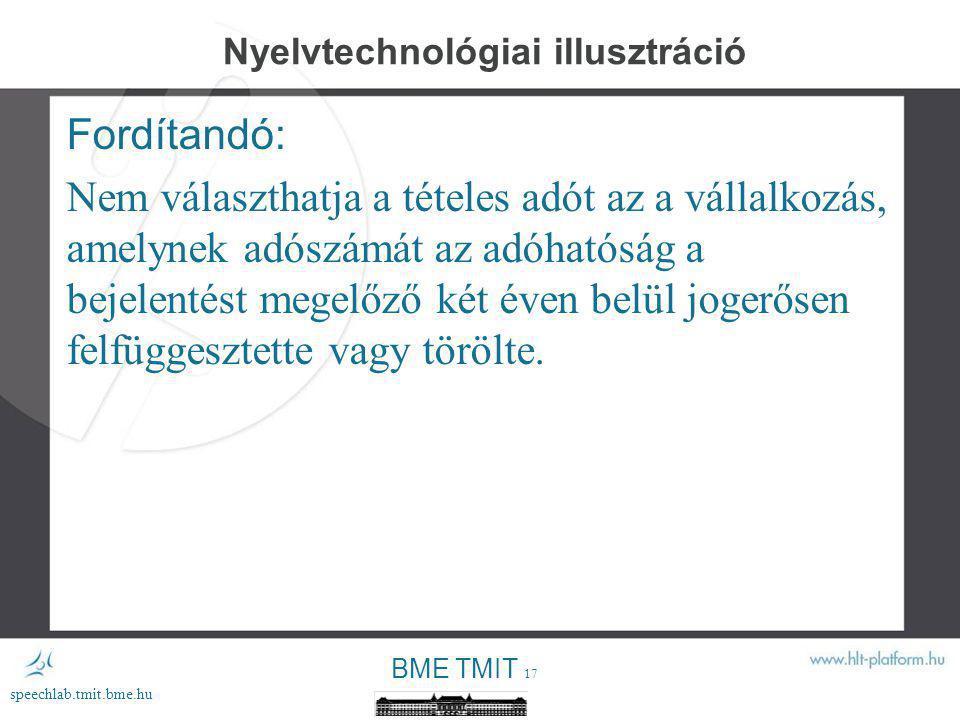 Nyelvtechnológiai illusztráció