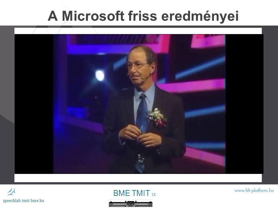 A Microsoft friss eredményei