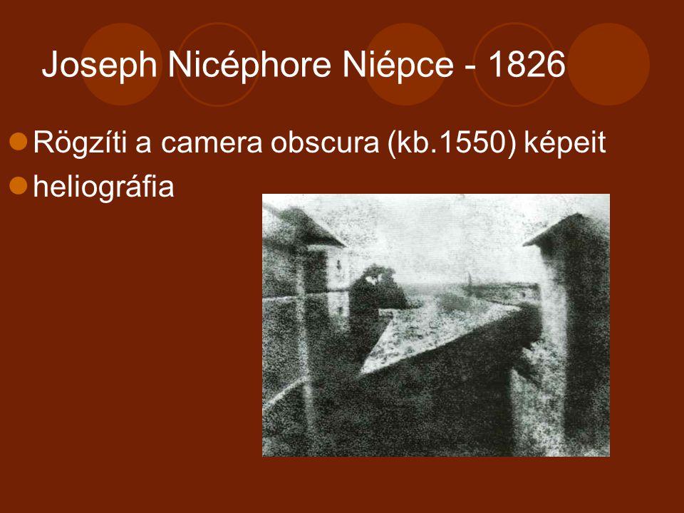 Joseph Nicéphore Niépce - 1826