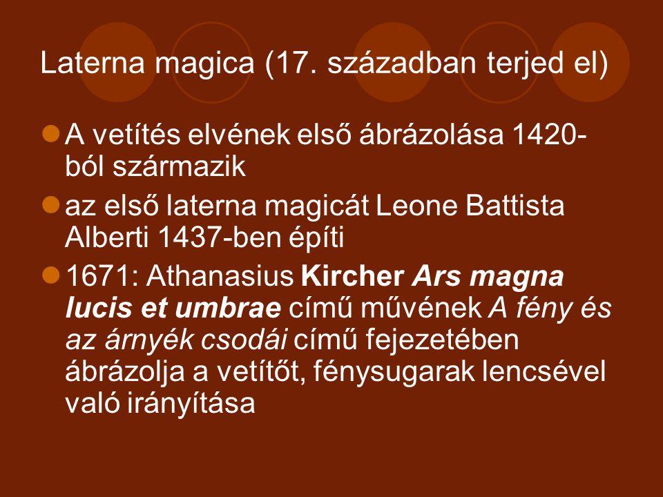 Laterna magica (17. században terjed el)