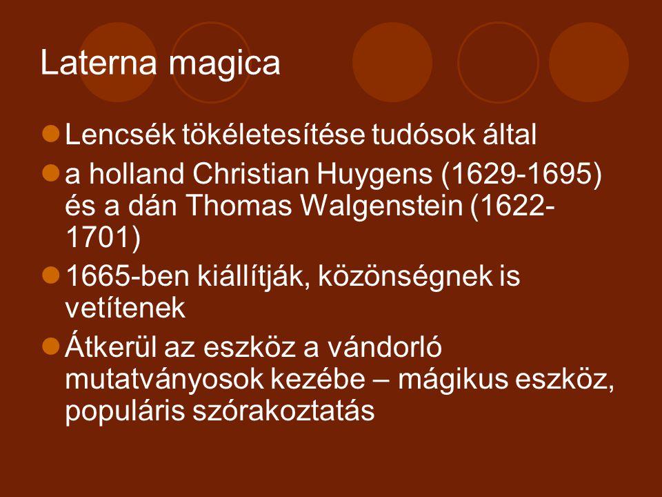 Laterna magica Lencsék tökéletesítése tudósok által
