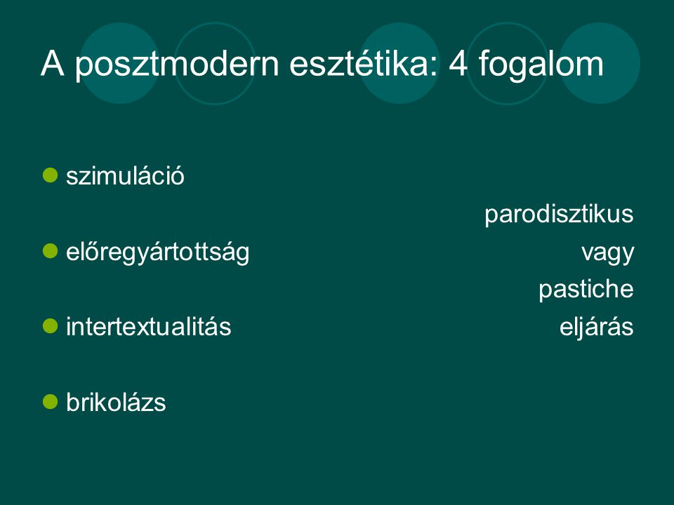 A posztmodern esztétika: 4 fogalom