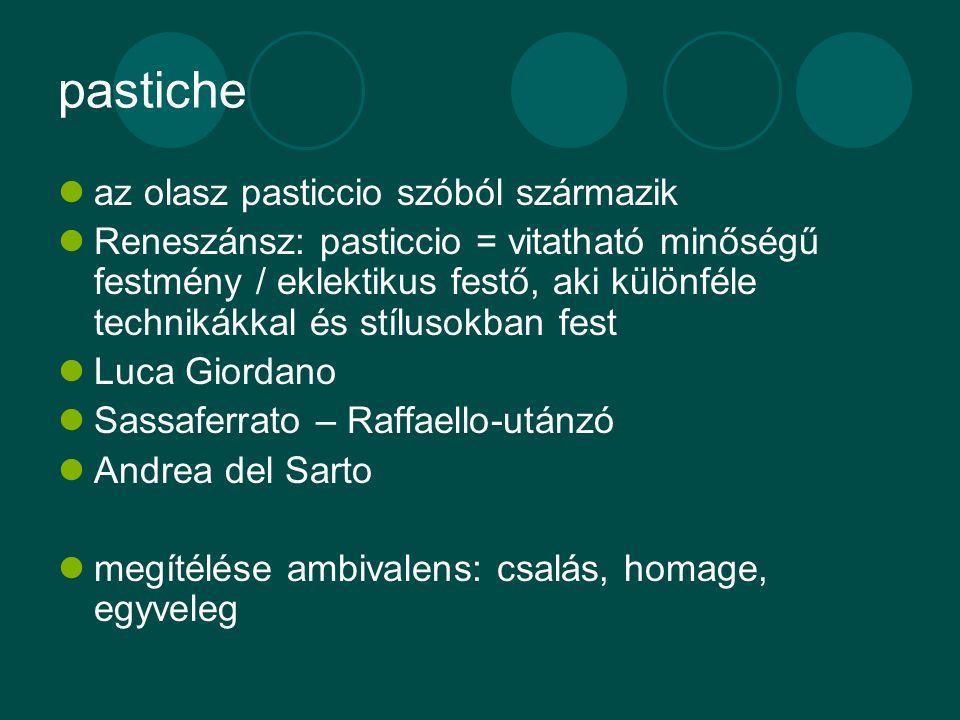 pastiche az olasz pasticcio szóból származik